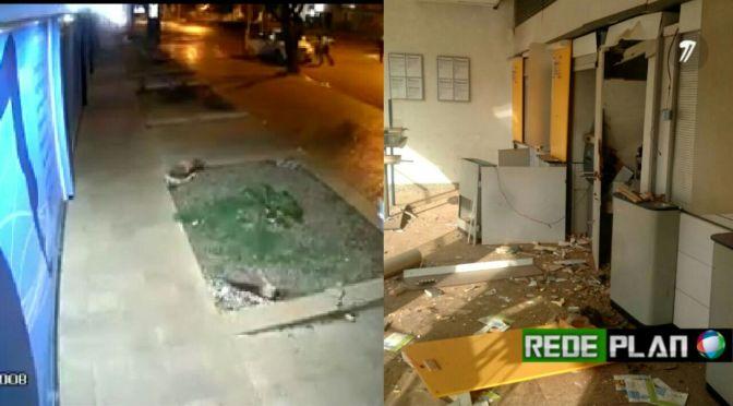 VÍDEO: Caixas eletrônicos de Planaltina-GO e Formosa-GO são explodidos de madrugada | Rede Plan