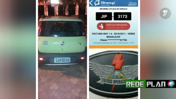 Veículo é roubado na Qd. 01 Sul e é recuperado pela Polícia Militar em 20 minutos | Rede Plan