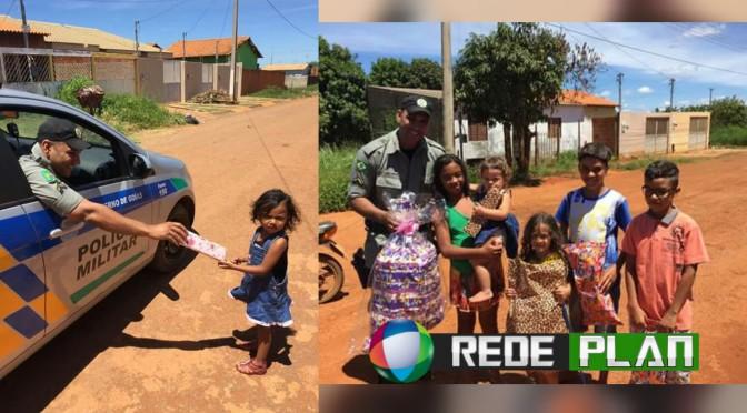 Em Planaltina-GO, Policiais distribuem brinquedos para crianças no Natal | RP