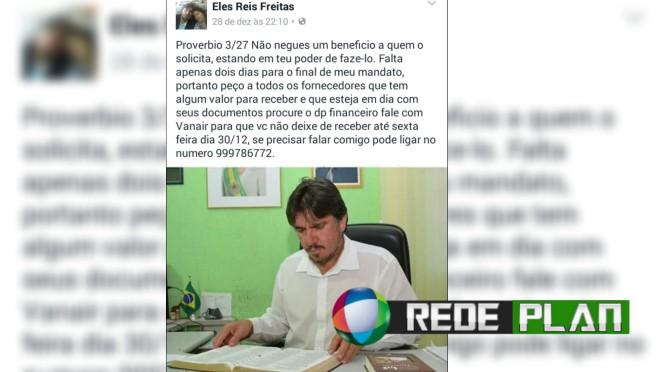 Antes de deixar governo, prefeito se acerta com fornecedores que não receberam | RP