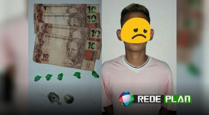 Menor é detido com cocaína e maconha em bar na quadra 17 norte de Planaltina-GO | RP