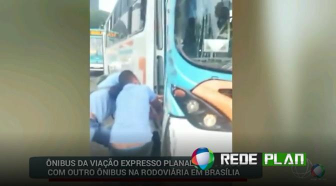 Ônibus da 'Expresso Planaltina' se envolve em acidente na rodoviária de Brasília | RP