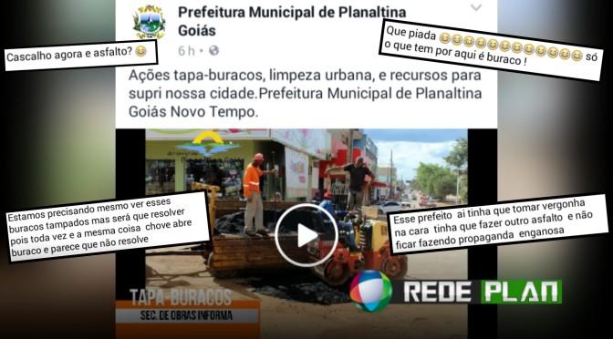 Prefeitura divulga vídeo de operação 'tapa-buraco' e internautas fazem piada | RP