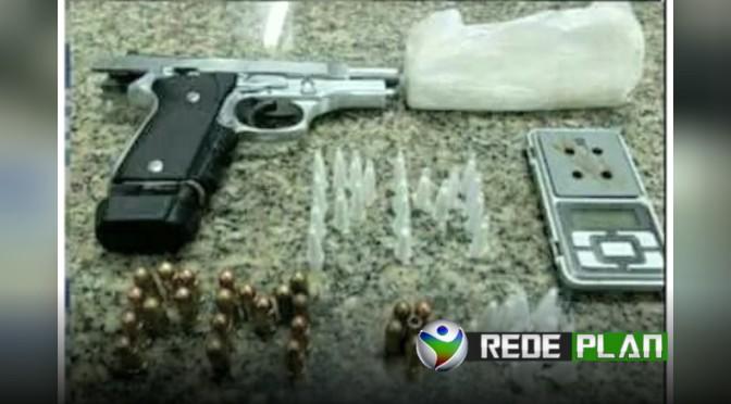 Polícia Militar apreende arma e drogas no bairro dos Imigrantes em Planaltina-GO   RP