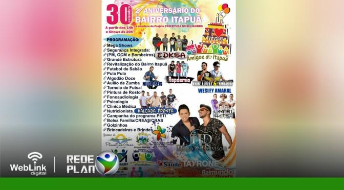 AMANHÃ! Aniversário do Itapuã terá várias atividades gratuitas e shows; veja |RP