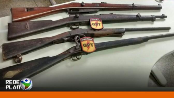 GPT prende homem com fuzis que seriam revendidos em Plan-GO | RP