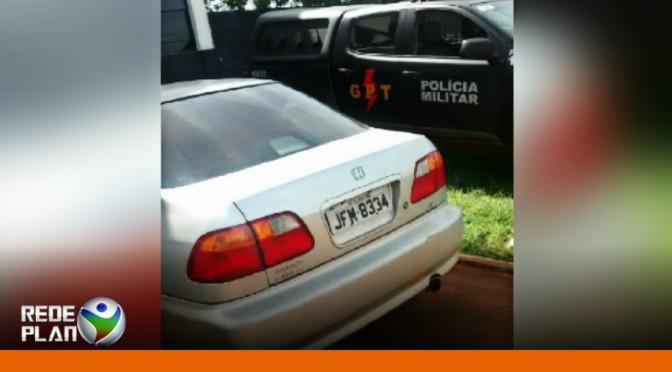 Policiais Militares localizam carro com placa clonada   RP