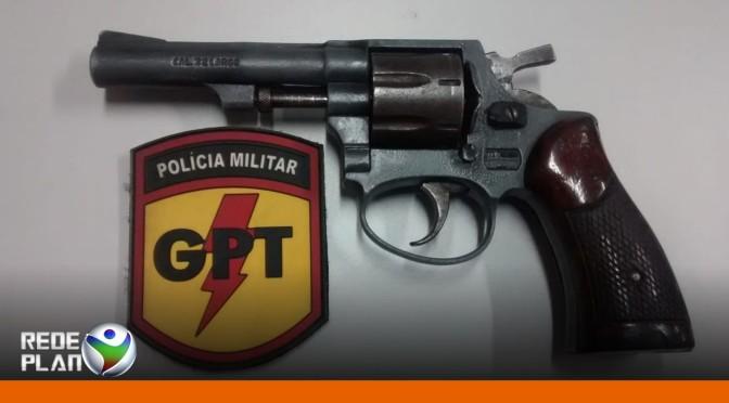 Arma de fogo de menor infrator é apreendida pela equipe da GPT   RP