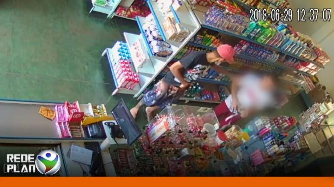 Assaltante que roubou mercado ontem no setor Leste foi preso pela GPT   RP