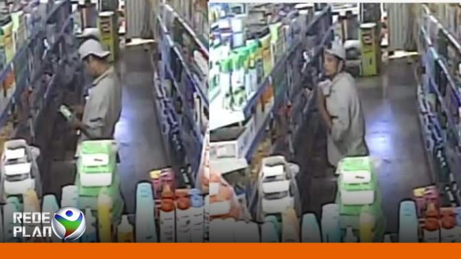 Câmeras flagram homem furtando mercadorias em mercado no setor Sul | RP