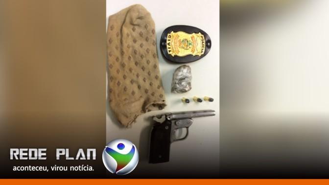 Polícia Civil prende homem em flagrante com arma de fogo e droga na Qd. 5 Sul | RP