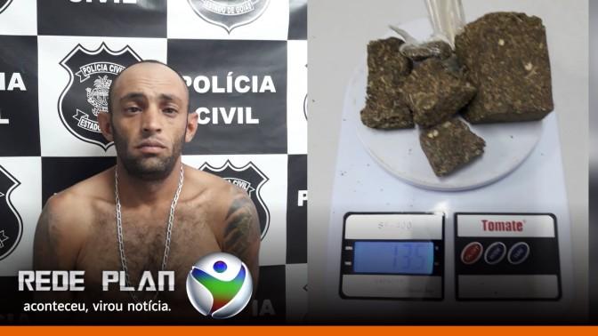 Polícia Civil prende traficante de drogas no setor norte de Planaltina Goiás | RP