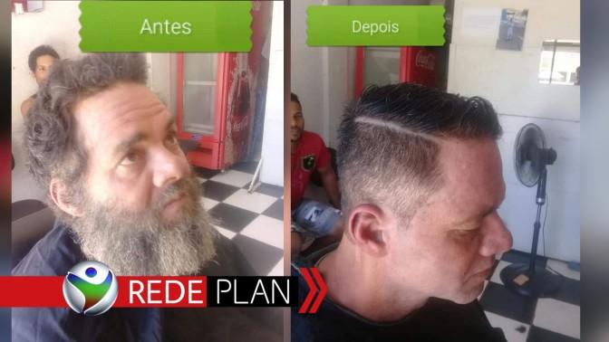 Morador de rua ganha corte de cabelo e mudança de visual impressiona | RP