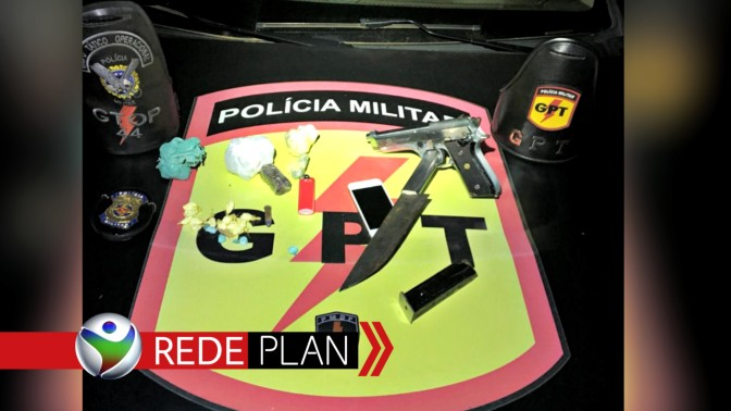 Polícia Militar aborda suspeito portando arma de fogo nas ruas de Planaltina-GO  | RP