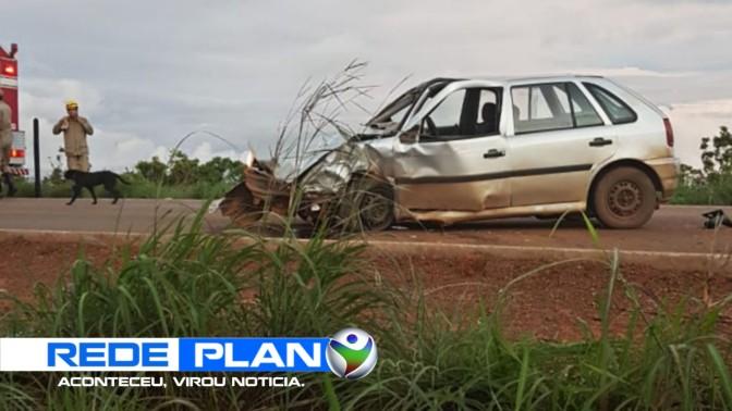 Dois carros batem de frente na GO-430 em Planaltina-GO na tarde desta quarta-feira (7) | RP