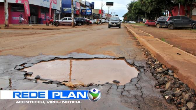 Prefeitura de Planaltina Goiás adia operação tapa-buraco por causa das chuvas | RP
