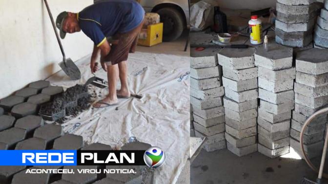 Cansado de esperar, morador fabrica bloquetes para pavimentar rua, em Planaltina-GO | RP