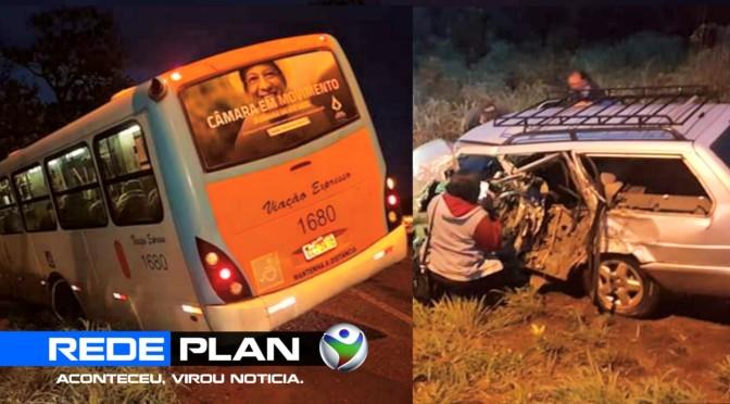 Grave acidente envolve ônibus de Planaltina-GO e um carro, na DF-128 | RP