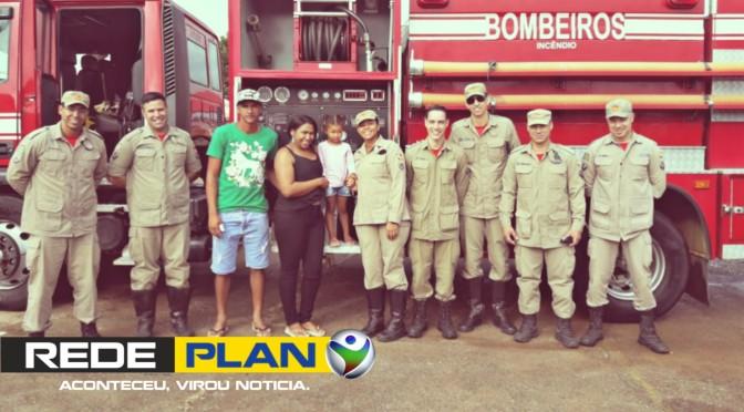 Aos três anos, Evillin realiza o sonho de conhecer o quartel dos bombeiros de Planaltina-GO | RP