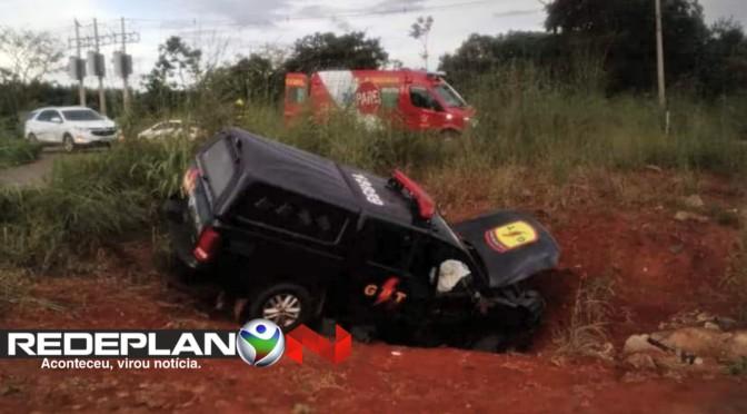 Acidente com viatura da PM de Goiás deixa três policiais feridos no DF | RP