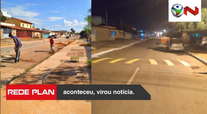 Moradores se unem e revitalizam rua na quadra 1 norte em Planaltina-GO | RP
