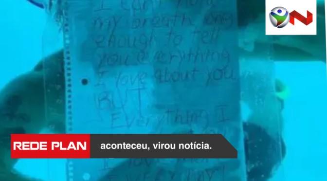 Homem faz pedido de casamento durante mergulho e morre afogado | RP