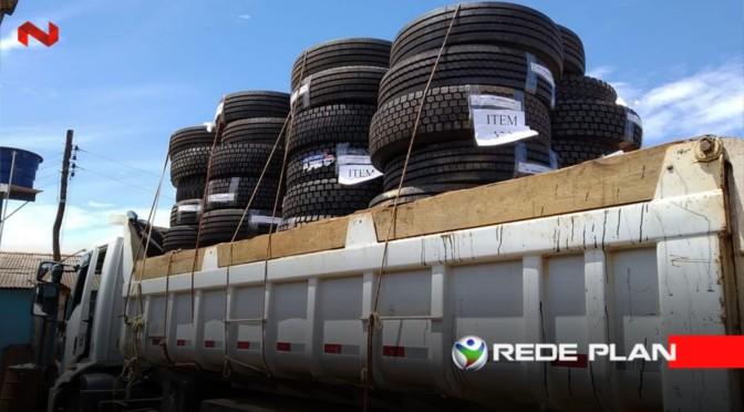 GCM recebe doação de 80 pneus para caminhões e repassa para a Secretaria de Transportes | RP